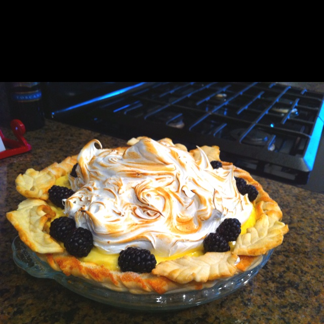 Lime & Blackberry Italian Meringue Pie Recipe — Dishmaps