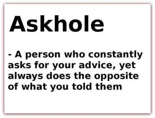Askhole definition