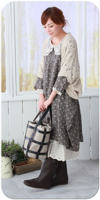 (mori girl) love this whole look so romantic