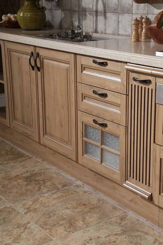 Sink cabinet oppein line type kitchen cabinet with pp finish model
