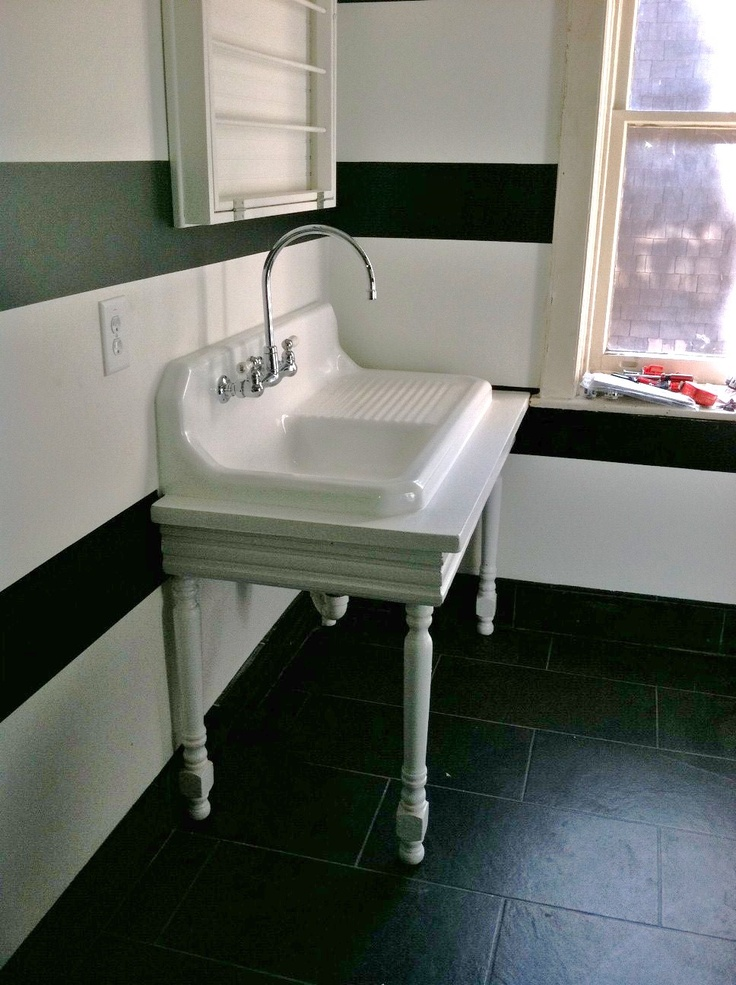 Used Kitchen Sinks : Vintage kitchen sink used in a bathroom. bathroom remodel Pintere ...