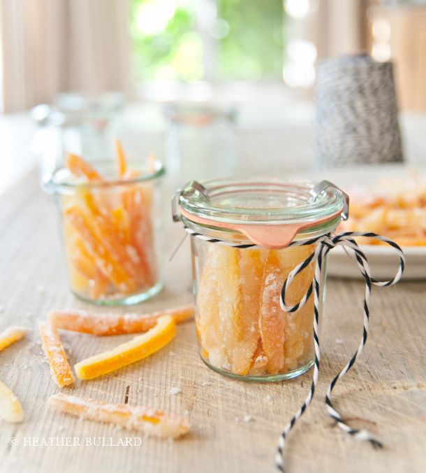 Candied citrus peel is great for gifting or as an addition to basic ...