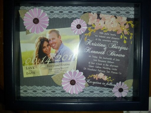 Bridal Shower Gift For Future Sister In Law : Shadow Box - Bridal Shower gift for my sister-in-law. Scrapbooking ...