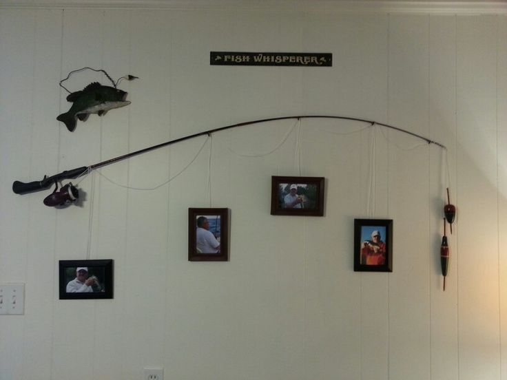 The fishing pole frame home decor pinterest for Fisherman home decor
