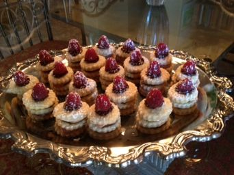 Bite size raspberry chocolate napoleons | Confections | Pinterest