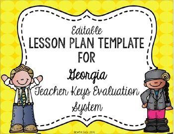 Teacher Keys Effectiveness System TKES Editable Lesson