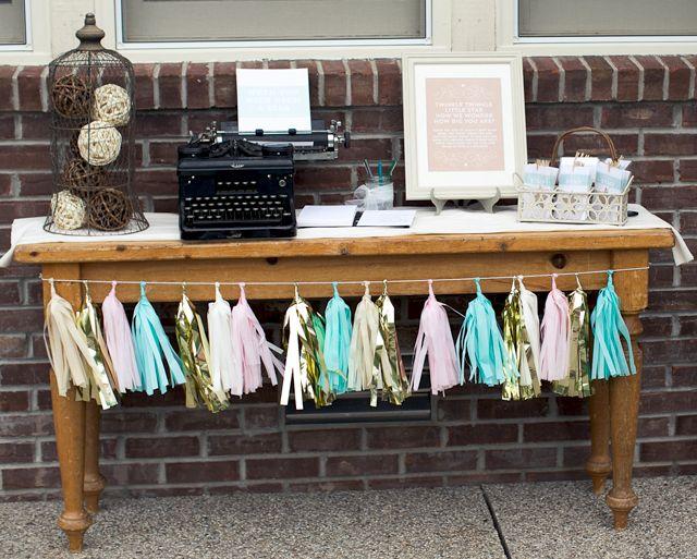 Twinkle Twinkle Little Star Shower- Activity Table