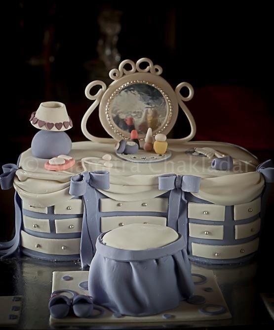 Blue Vanity Cake ~ All edible ~ Cake Art!!!!