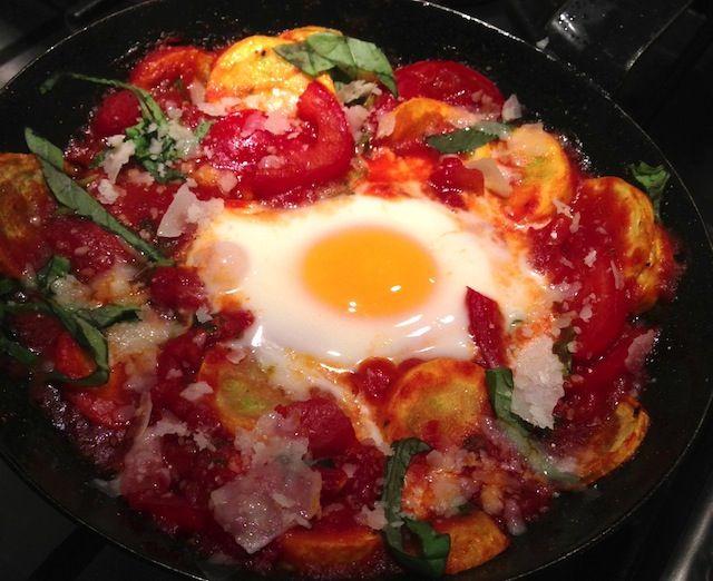 Summer Squash Skillet With Baked Eggs | Food | Pinterest