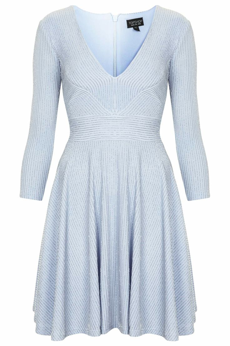 Pinstripe Skater Dress - Topshop