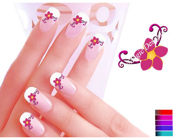 flowers nail art stickers
