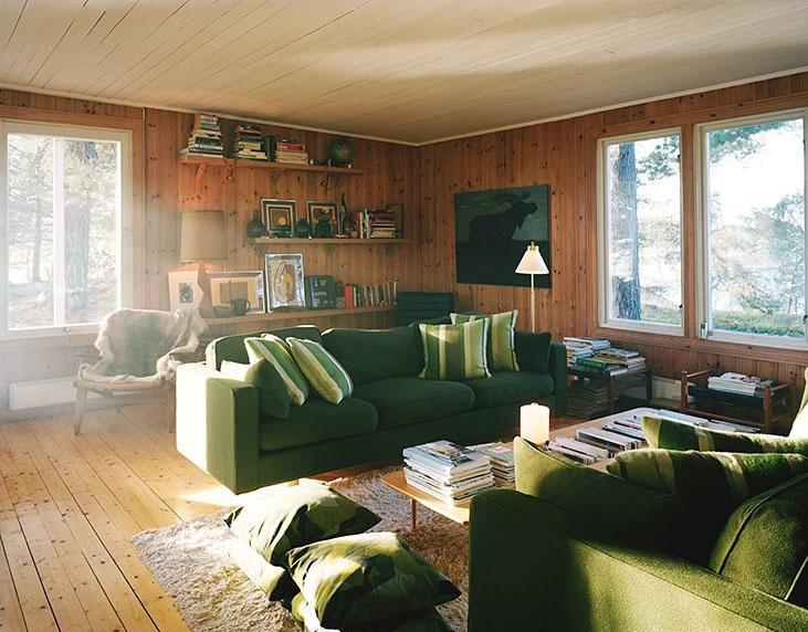 cabin living room log cabin pinterest
