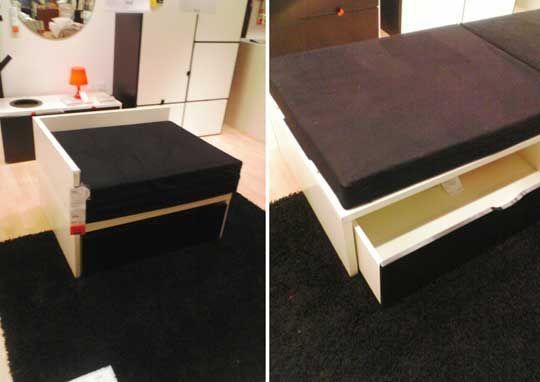 odda guest bed with storage at ikea efficient furniture. Black Bedroom Furniture Sets. Home Design Ideas