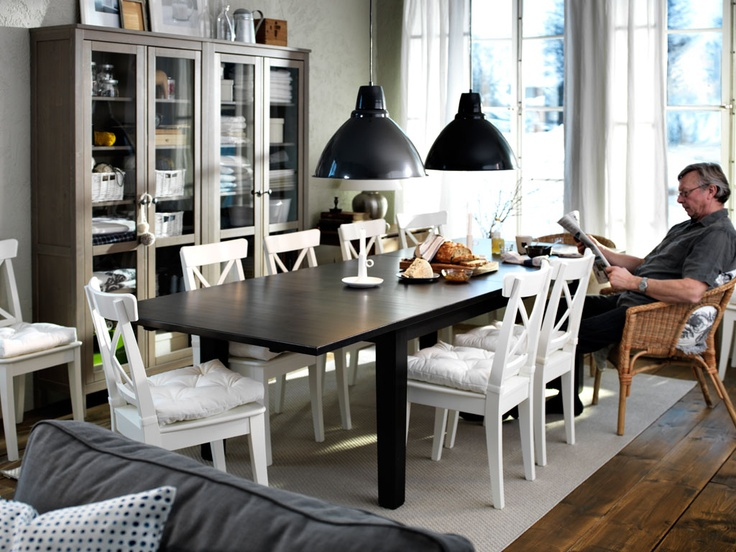 table and cabinets for storage and you get more from your dining room