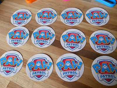 24 Paw Patrol Badge Stickers, birthday party favors, awards, prizes
