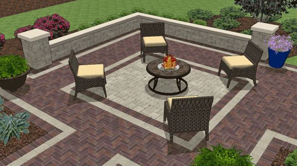 Patio ideas for fire pit for the home pinterest for Simple backyard patio designs