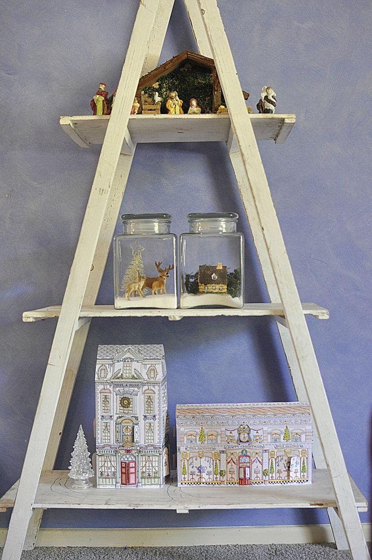 Christmas Ladder   Christmas Ideas   Pinterest