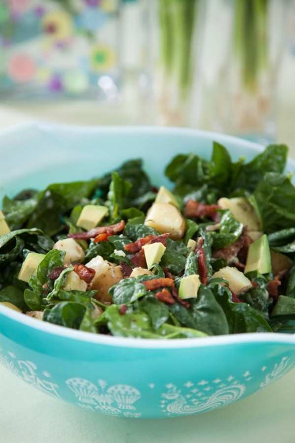 ... sauce; warm potatoe and spinach salad with lemon dill dressing