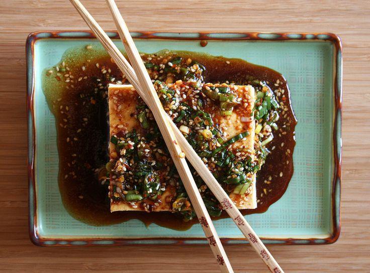 Warm Tofu with Spicy Garlic Sauce | food | Pinterest