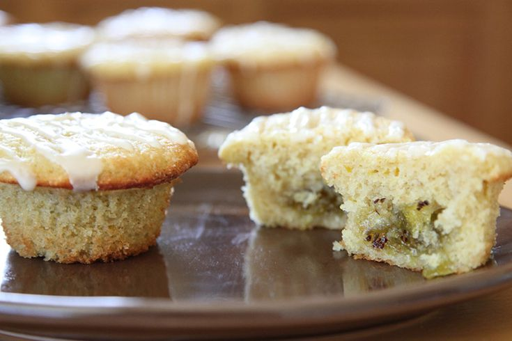 Kiwi-Lime Marmalade filled Muffins (gluten free with no xanthan/guar ...