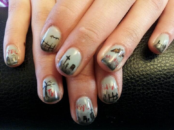 Hotel Transylvania inspired | My Nail Art | Pinterest