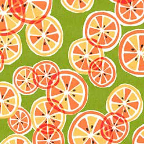 "Michael Miller ""Citrus Slice"" Creamsicle by Yard | eBay"