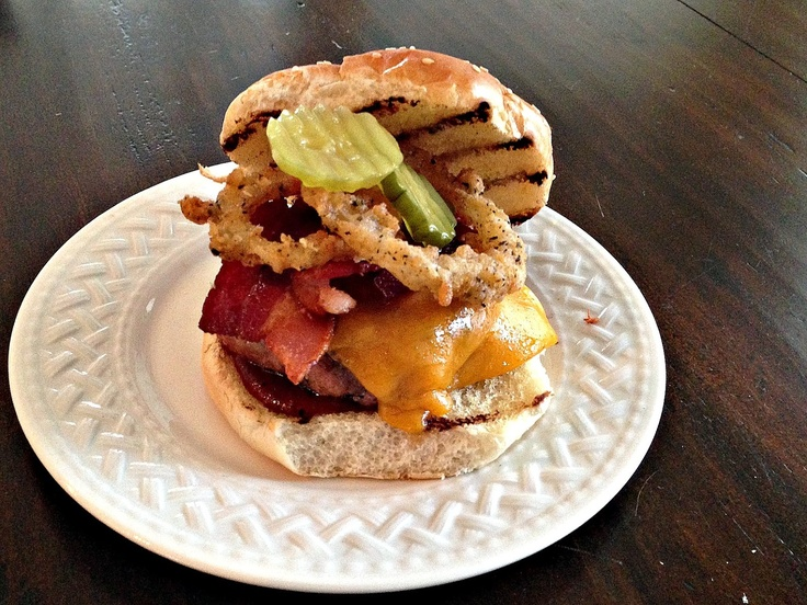Cheyenne Burger: turkey burger with cheddar, bacon, BBQ sauce, pickle ...