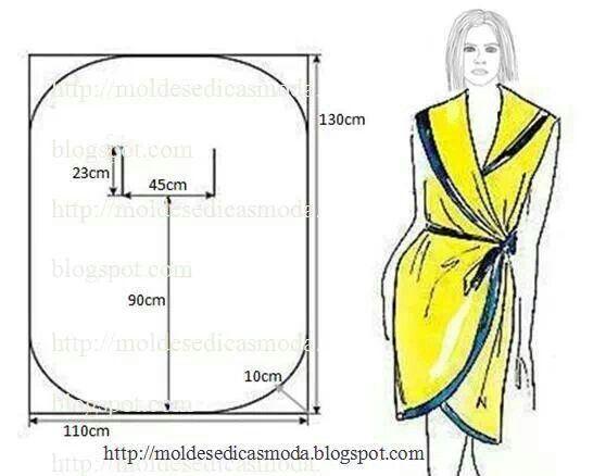 Как сшить халат своими руками без швов 22