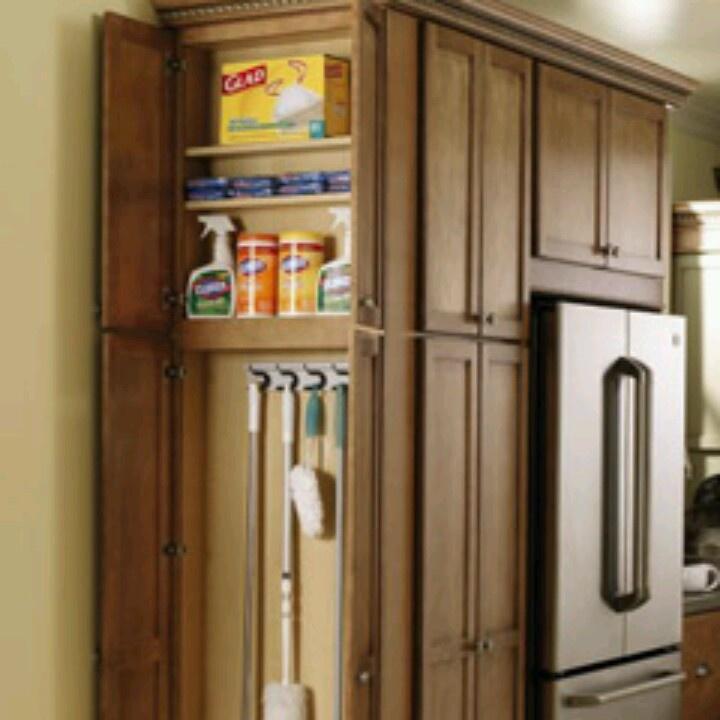 Broom cabinet Kitchen Redo Pinterest