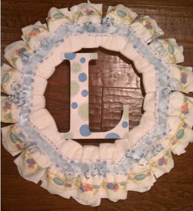 baby shower diaper wreath diaper shower pinterest