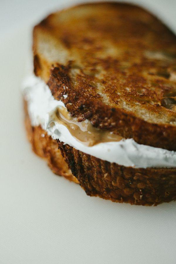 Marshmallow Fluff & Peanut Butter Fluffernutter Sandwich