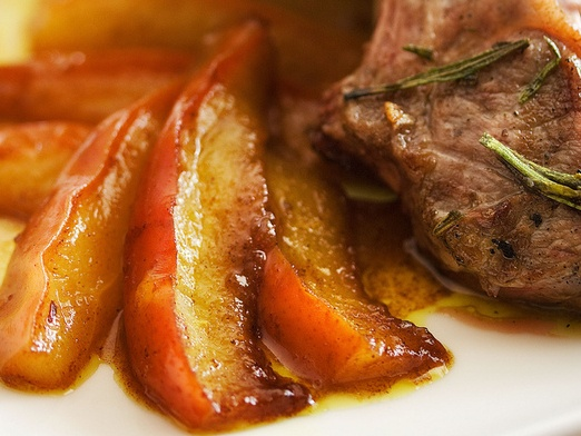 Lamb chops with curried pears. | Savory | Pinterest