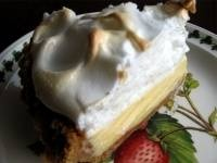Lemon Meringue Pie -- this makes a beautiful pie in a deep dish pan.
