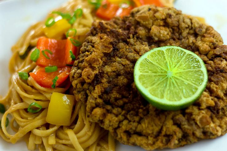 Beef Schnitzel with Sesame Udon Noodles | Asian Fusion Cuisine Bridal ...