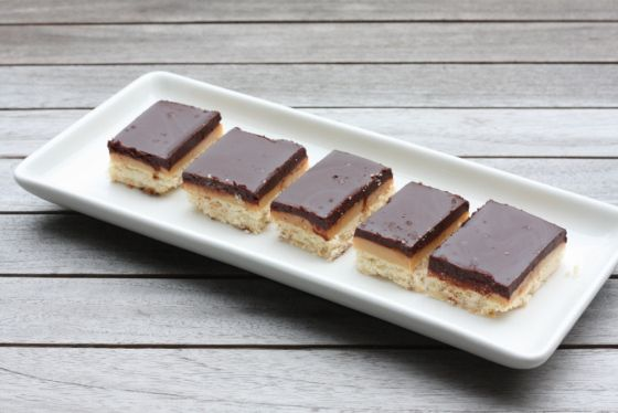 Chocolate Salted Caramel Shortbread. Oddly, it omits the salt except ...