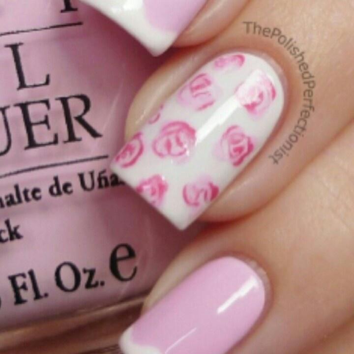 Rose nail design | ^Funky Nail Designs^ | Pinterest