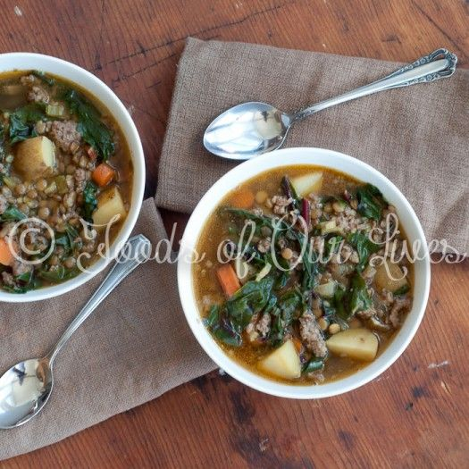 Lentil And Sausage Soup For A Cold Winter's Night Recipes — Dishmaps