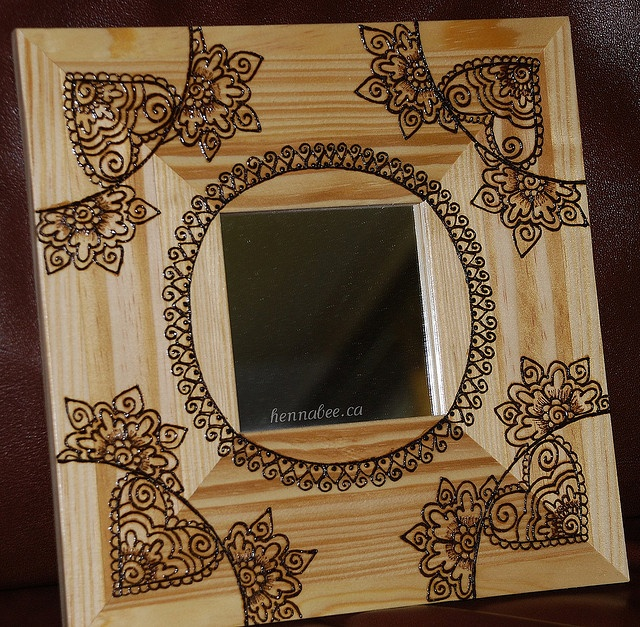 Mirror by henna bee via flickr henna designs pinterest for Floor mirror italian baroque rococo style in lacquer finish