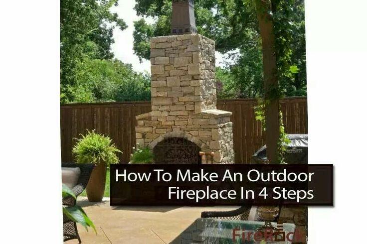 diy outdoor fireplace living outdoors pinterest