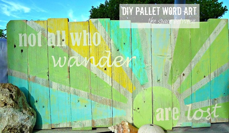 pallet slats, paint and a few screws create free decorative word art