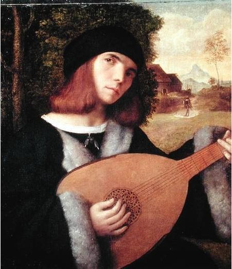 16th century lute-player Giovanni Cariani.