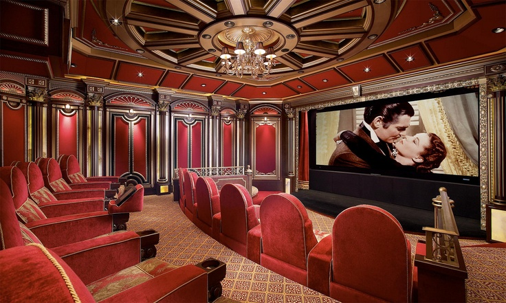 fantastic art deco style home theater celestial home theatre pint. Black Bedroom Furniture Sets. Home Design Ideas