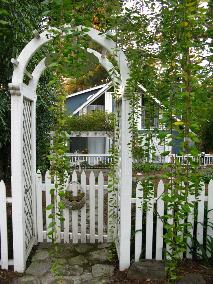 pretty garden gate picket fenses pinterest