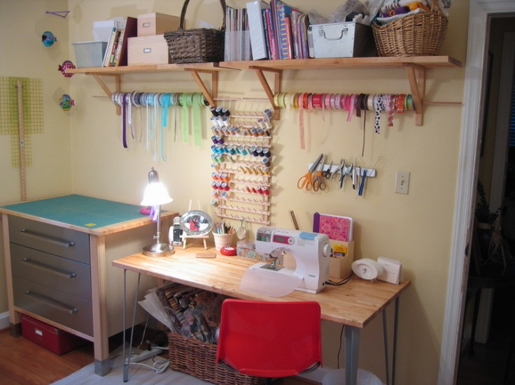 Ikea sewing space where to sew pinterest Sewing room ideas for small spaces