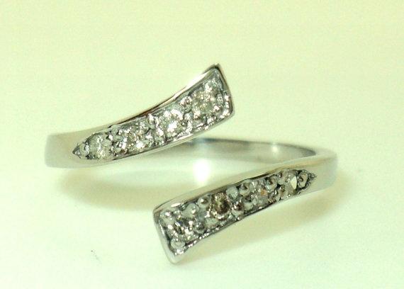 14k white gold toe ring jewelry