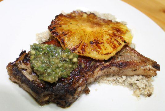 Spicy Firecracker Pork Chops With Fresh Pineapple, Kiwi ...