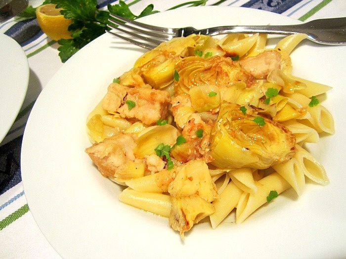 ... Snacks: What's for Dinner? Chicken w/ Artichokes in White Wine Sauce