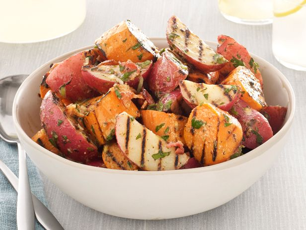Grilled Potato Salad With Bacon-Scallion Vinaigrette from FoodNetwork ...