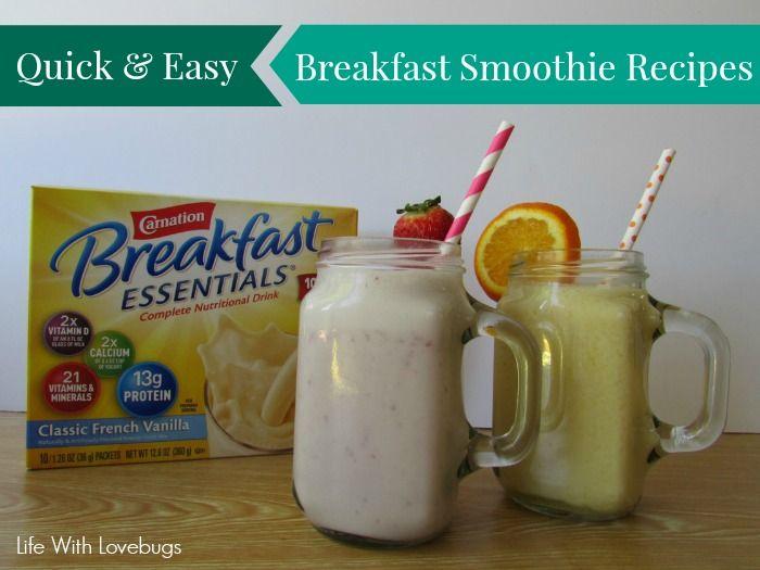 quick amp easy breakfast smoothie recipes strawberries amp cream ...
