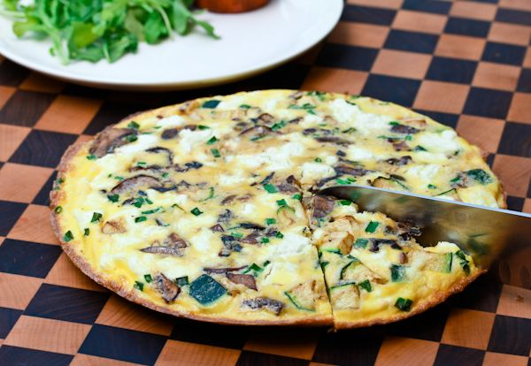 Wild Mushroom and Goat Cheese Frittata | Recipe